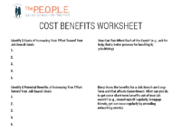 Cost Benefits Worksheet