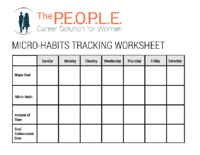 Micro-Habits Tracking Worksheet